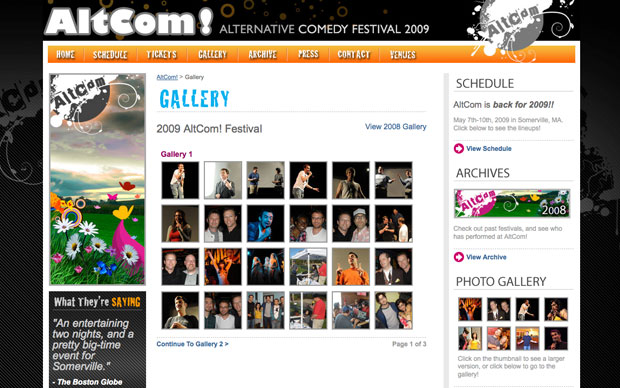 Festival 2009 Schedule Altcom Festival 2009 Gallery Lightbox Enabled
